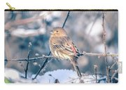 House Finch Tiny Bird Perched On A Tree Carry-all Pouch