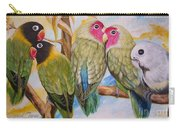 Flygende Lammet     Productions          5 Lovebirds Sitting On A Twig Carry-all Pouch