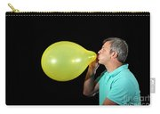 Man Inflating Balloon Carry-all Pouch