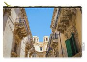 Noto, Sicily, Italy - Detail Of Baroque Balcony, 1750 Carry-all Pouch