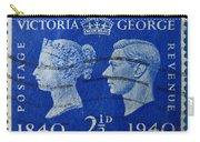 Old British Postage Stamp Carry-all Pouch