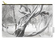 Park During Heavy Snowfall  Carry-all Pouch