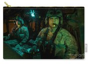 Pilots Sitting In The Cockpit Carry-all Pouch