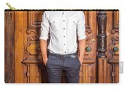 Portrait Of Young American Businessman Carry-all Pouch