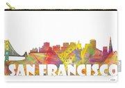 San Francisco California Skyline Carry-all Pouch