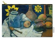 Still Life With Teapot And Fruit Carry-all Pouch