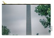 Washington Mall Monumet On A Cloudy Day Carry-all Pouch