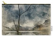 Watercolour Painting Of Beautiful Autumn Fall Landscape Image Of Carry-all Pouch