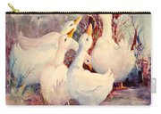5 White Geese Carry-all Pouch