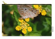 5 Yellow Flowers And A Buttefly Carry-all Pouch