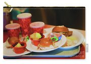 50's Style Food Malt Hamburger Tray  Carry-all Pouch