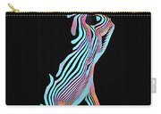 5291s-mak Nude Female Torso Rendered In Composition Style Carry-all Pouch