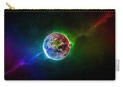56996 3d Space Scene Colorful Digital Art Earth Carry-all Pouch
