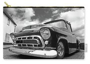 57 Stepside Chevy In Black And White Carry-all Pouch