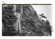 5782- Yellow Mountains Black And White Carry-all Pouch
