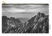 5818- Yellow Mountains Black And White Carry-all Pouch
