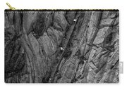 5840- Yellow Mountains Black And White Carry-all Pouch