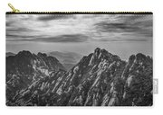 58462 Yellow Mountains Black And White Carry-all Pouch