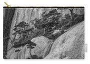 5867- Yellow Mountains Black And White Carry-all Pouch