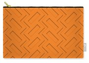 Abstract Orange, White And Red Pattern For Home Decoration Carry-all Pouch