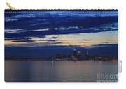 Cleveland City Skyline At Dusk Carry-all Pouch