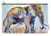 Colorful Cute Elephant Carry-all Pouch