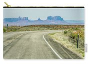 descending into Monument Valley at Utah  Arizona border  Carry-all Pouch
