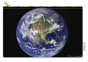 Full Earth Showing North America Carry-all Pouch by Stocktrek Images