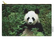 Giant Panda Ailuropoda Melanoleuca Carry-all Pouch by Cyril Ruoso