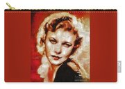 Ginger Rogers Hollywood Actress And Dancer Carry-all Pouch