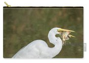 Great Egret With Fish Carry-all Pouch