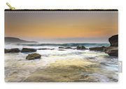 Hazy Dawn Seascape With Rocks Carry-all Pouch