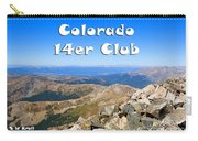Hikers And Scenery On Mount Yale Colorado Carry-all Pouch