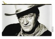 John Wayne, Vintage Actor By Js Carry-all Pouch