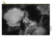 Knockout Roses Painted Bw Carry-all Pouch