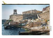 La Valletta Old Town Fortifications Architecture Scenic View In  Carry-all Pouch