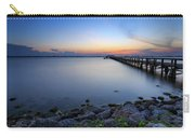 Melbourne Beach Pier Sunset Carry-all Pouch