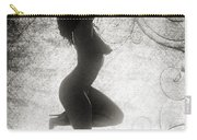 Neemah African American Nude Girl In Sexy Sensual Black And Whit Carry-all Pouch