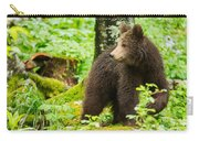 One Year Old Brown Bear In Slovenia Carry-all Pouch