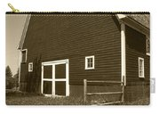 Barn And Wild Flowers Sepia Carry-all Pouch