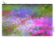 Summer Impression Series Panorama - Flowers Carry-all Pouch by Ranjay Mitra