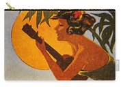 Vintage Hawaiian Art Carry-all Pouch