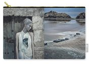 Woman In Ash And Blue Body Paint Carry-all Pouch