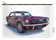 69 Ford Mustang Carry-all Pouch by Mamie Thornbrue