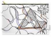Abstract Pencil Pattern Carry-all Pouch