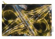 Aerial View Of Traffic Jams At Nonthaburi Intersection In The Evening, Bangkok. Carry-all Pouch by Pradeep Raja PRINTS