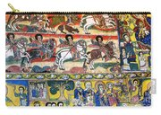 Ancient Orthodox Church Interior Painted Walls In Gondar Ethiopi Carry-all Pouch
