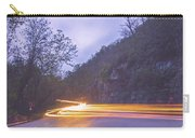 Automobile Traffic Long Exposure At Dusk In Pisgah National Park Carry-all Pouch