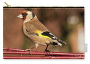 European Goldfinch Bird Close Up   Carry-all Pouch