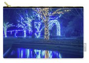 Lights, Christmas, Light, Christmas Tree, Green, Color, Red, Blu Carry-all Pouch